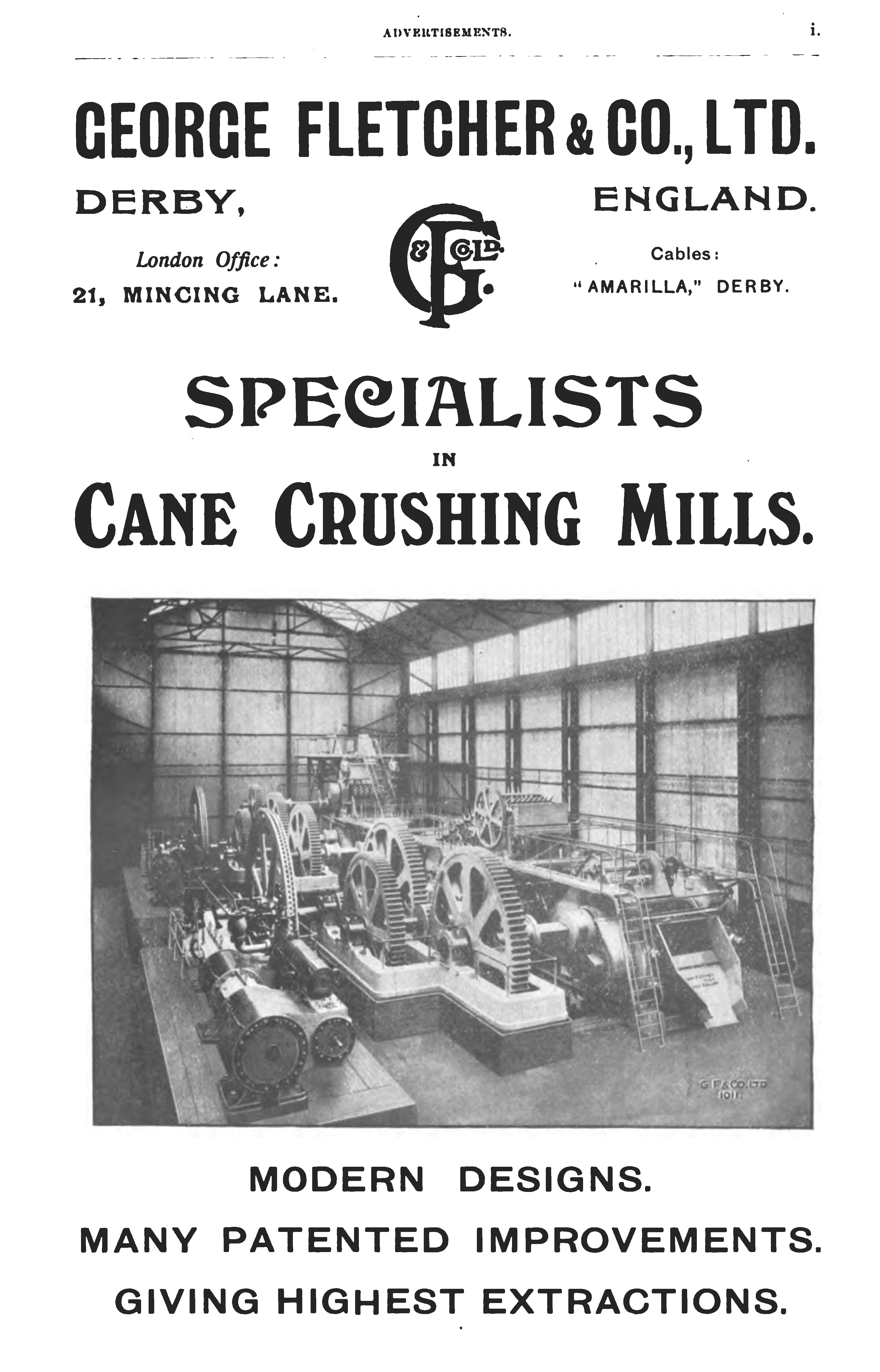 North Coast Of South America Servicing And Maintaining Fletcher's  Machinery Used To Crush The Sugar Cane The Advertisement Below Appeared In  A