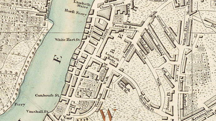 Chester Place (1802) is a very small road near the bottom right of the map.