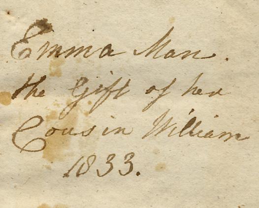 emma man book inscription