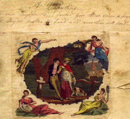 Valentine sent by Eleanor to her nephew Henry Garnet Man