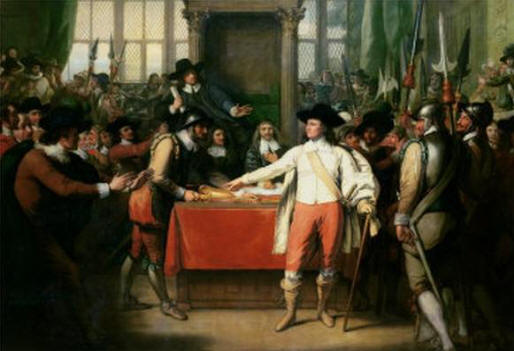 Cromwell Dissolving the Long Parliament Benjamin West