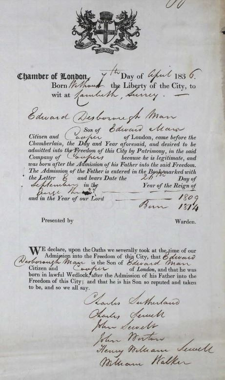 EDM's Freedom of the City of London