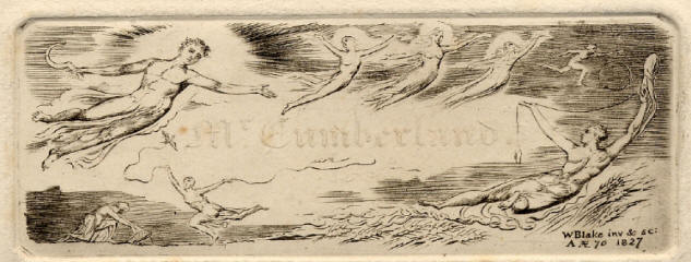 George Cumberland's visiting card engraved by William Blake