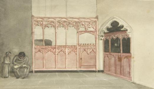Georeg Cumbeland's watercolour of Bristol City Chapel