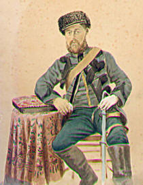 Harry Edward Julius Man dressed as a Turkish Officer during the Crimean War