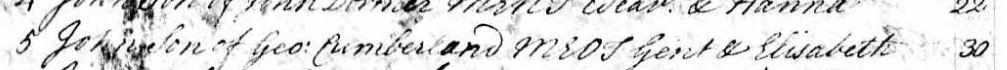 John Cumberland Bapt 5 Sept 1750 St Dunstan and All Saints, Stepney