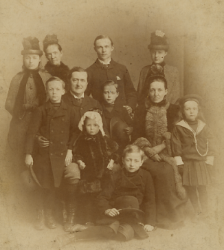 The Man Family in Dieppe France, 1887