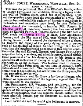 thomas fowle nov 25 1841
