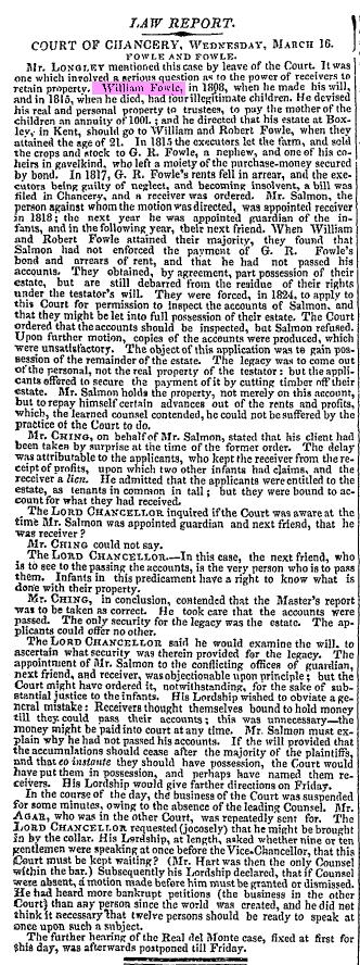 william fowle march 17 1825