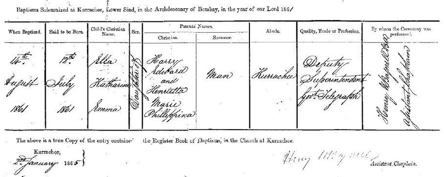 Ella Katherine Emma Man Baptism