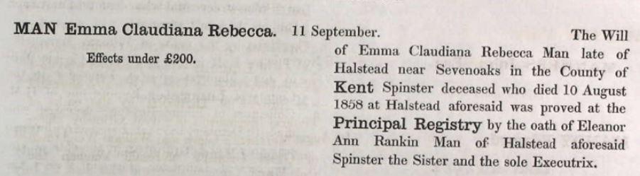 Emma's Probate Record