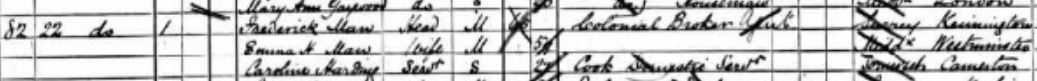 Frederick Man on the 1891 census