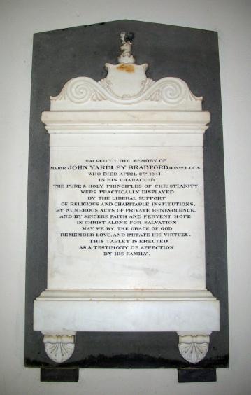 John Yardley Bradford Memorial