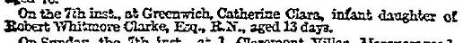 Whitmore Clarke Times Feb 9 1858