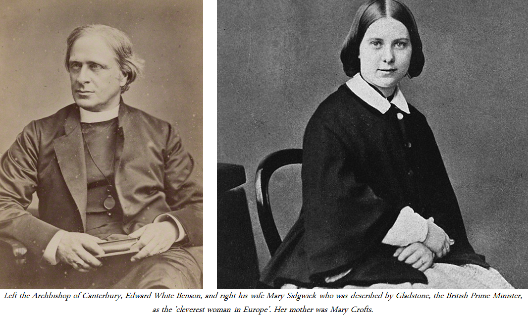 Benson and Sidgwick for the web page