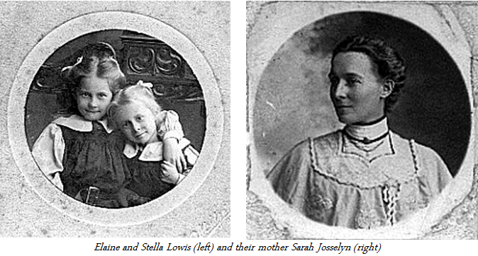 Elaine and Stella with their mother Sarah Josselyn