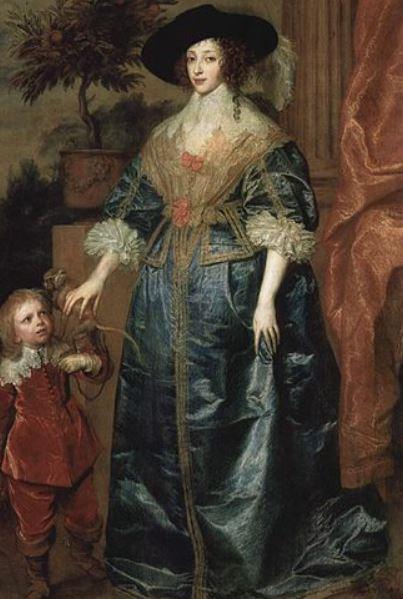 Henrietta Maria with her dwarf
