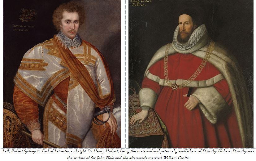 Robet Sydney and Henry Hobart the grandfathers of Dorothy Hobart