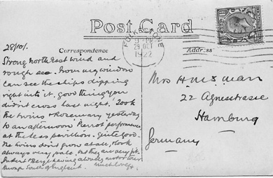 harry man postcard from halstead