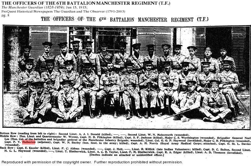 pv holberton 6th battalion group photograph