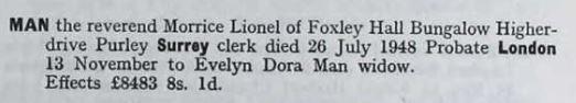 Morrice Lionel Man Probate