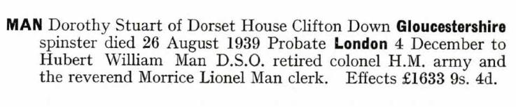 Dorothy's Probate Record