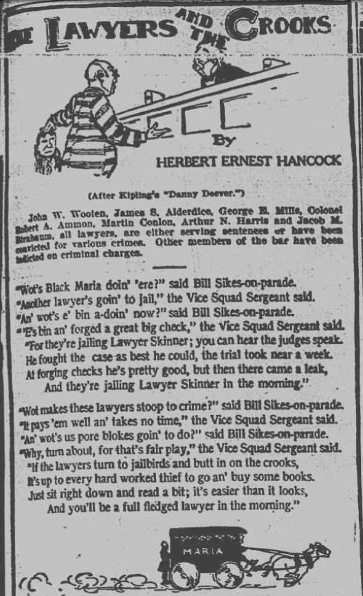 Herbert Ernest Hancock 1906 Verse