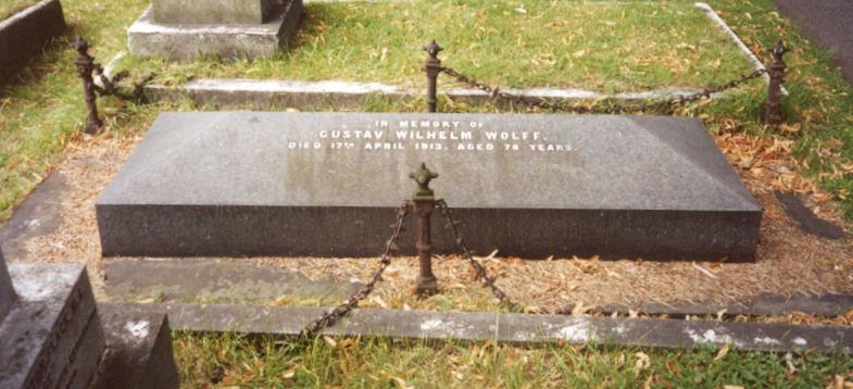 Gustav's grave in Brompton Cemetery