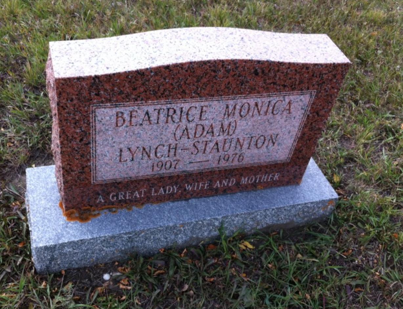 Monica's grave