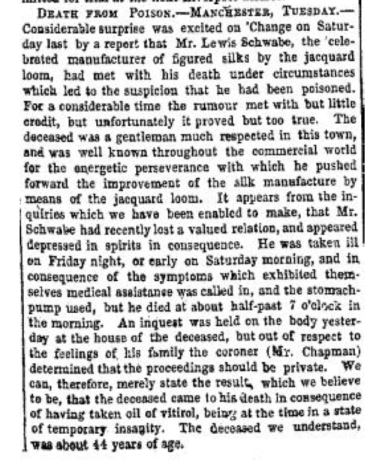 Louis Schwabe Lloyd's Weekly 19 January 1845
