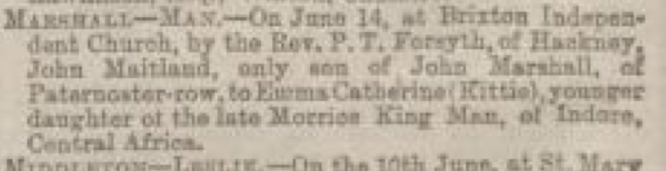 Emma Catherine Man Manchester Courier and Lancashire General Advertiser June 21 1884 A