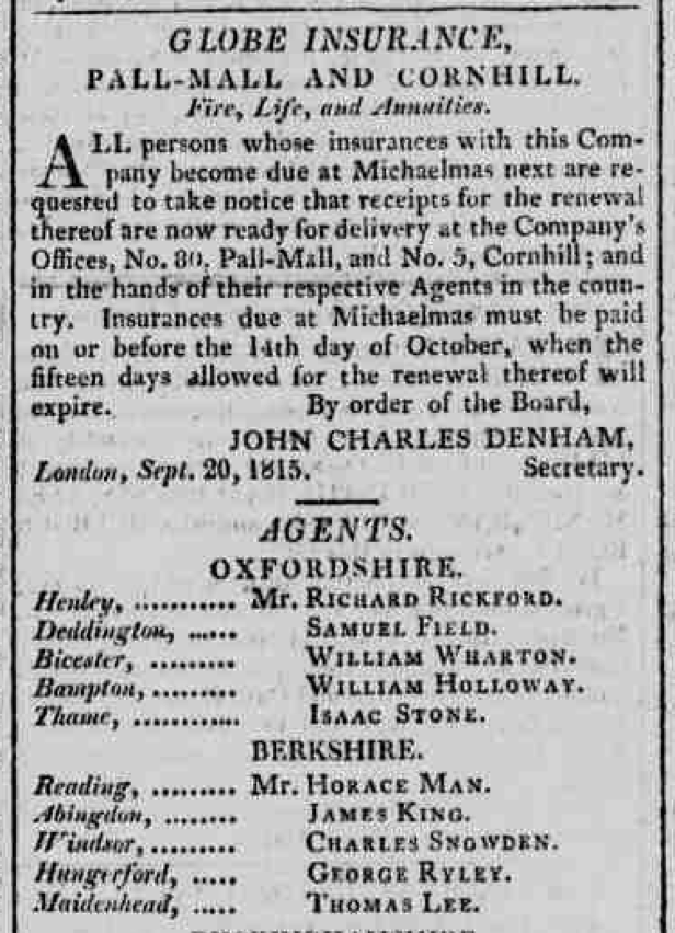 Oxford Journal 30 September 1815