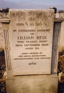lillian reis grave one