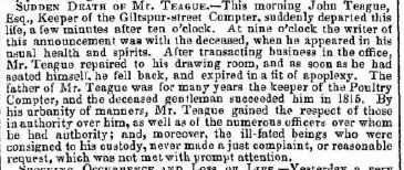 Death of Teague July 19 1841