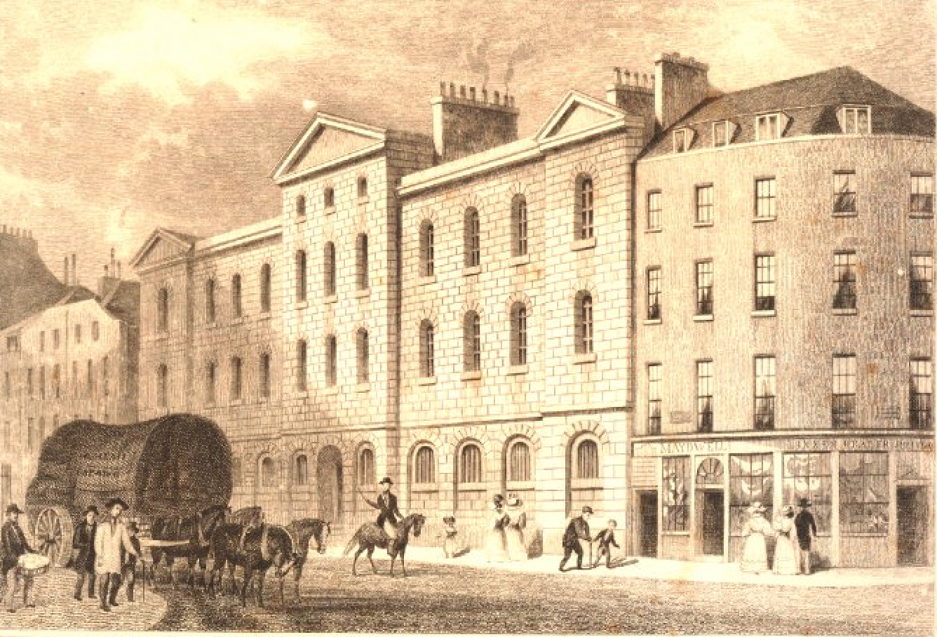 View of the old Prison for Debtors, Giltspur Street