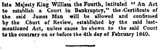 James Man Bankrupt Cleared The Gazette 2