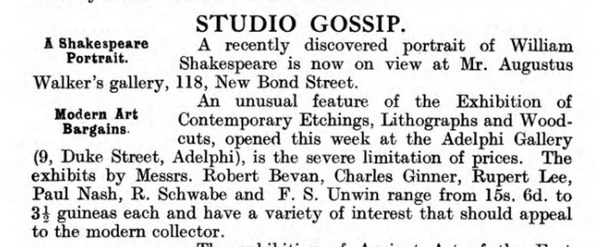 Art Gazetteer 1919