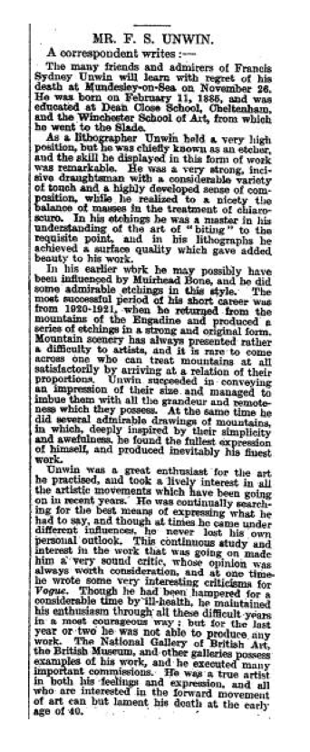 The Times 24 December 1925