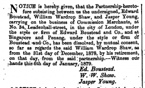Edward Boustead and Jasper Young Partnership