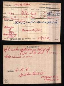 Percy Harcourt Reis Military Record