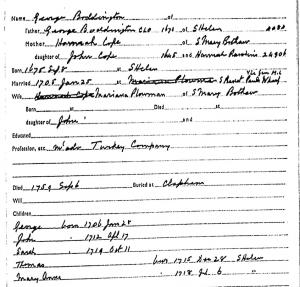 George Boddington and Family