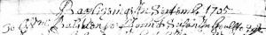 William Balchen Baptism Sept 1705