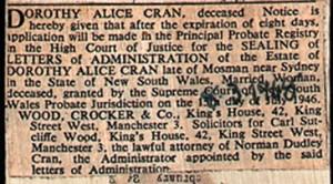Dorothy Alice Cran