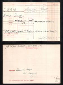 Norman Dudley Cran Army Record