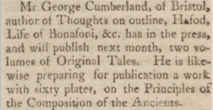 George Cumberland May 01 1810