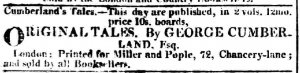 George Cumberland Original Tales July 06 1810