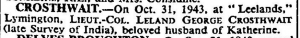 Leland Crosthwait Death Notice