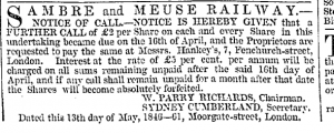 Sidney Cumberland May 13 1846