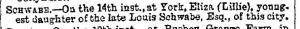 Eliza Schwabe Manchester Times Death Notice March 1889