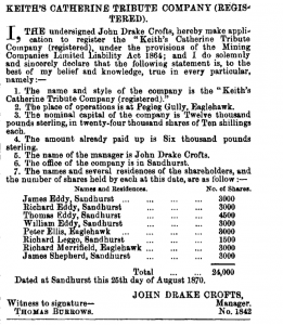 John Drake Crofts in Australian Gazette 2